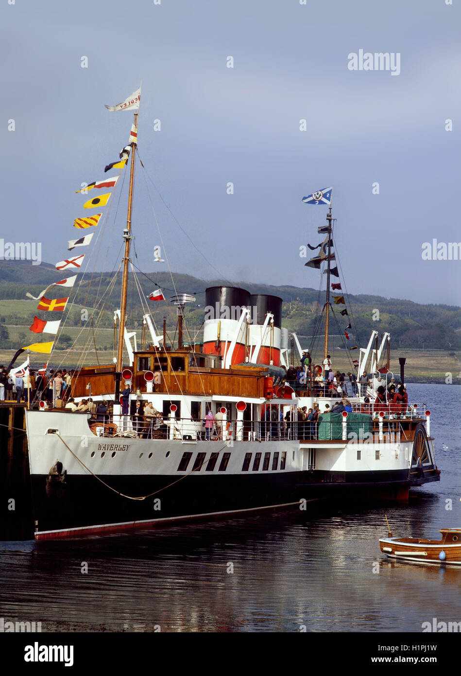 Waverley at Ardrishaig Pier,Argyll - Stock Image