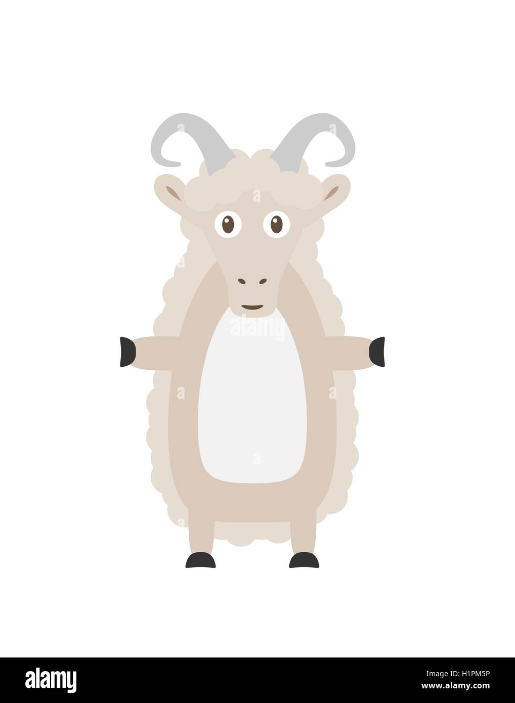 Funny sheep character Stock Vector