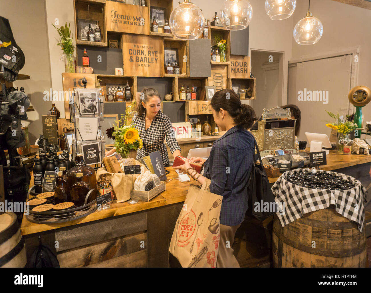 26db0ee9e0ffd7 Visitors to the Jack Daniel s Lynchburg General Store pop up branding event  in New York on Tuesday