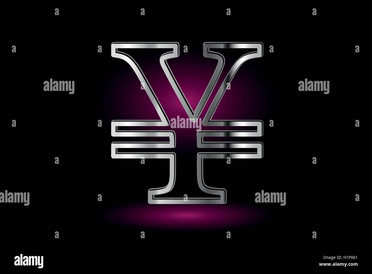 Yen symbol, Yen currency symbol, - Stock Image