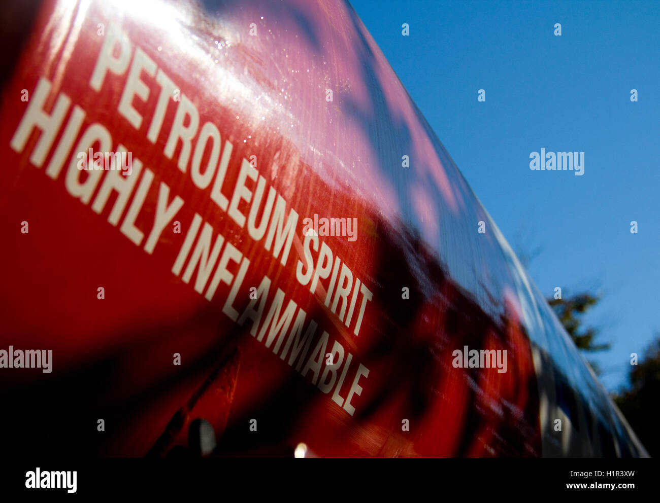 Petroleum spirit highly inflammable sign - Stock Image