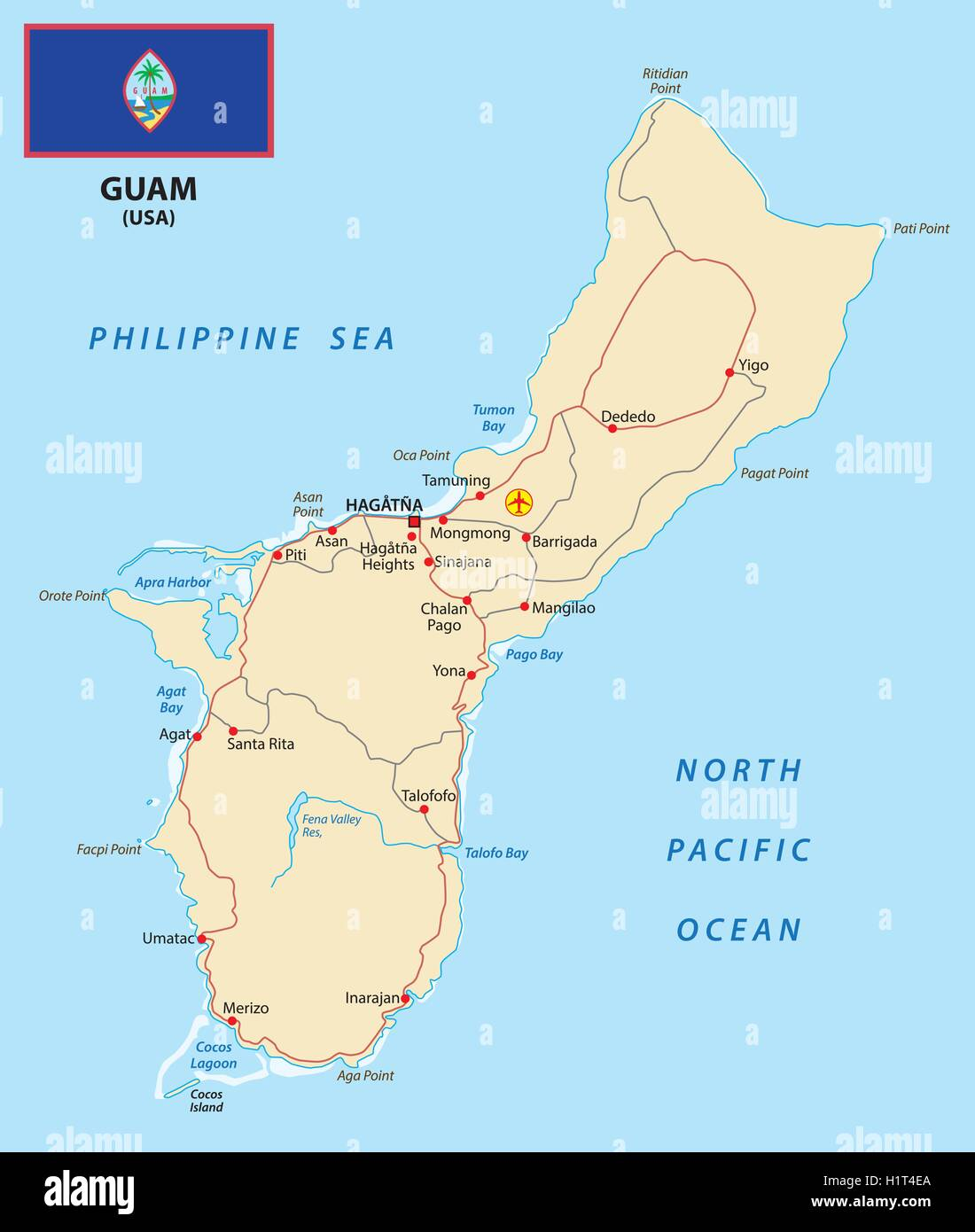Guam Map Stock Photos & Guam Map Stock Images - Alamy