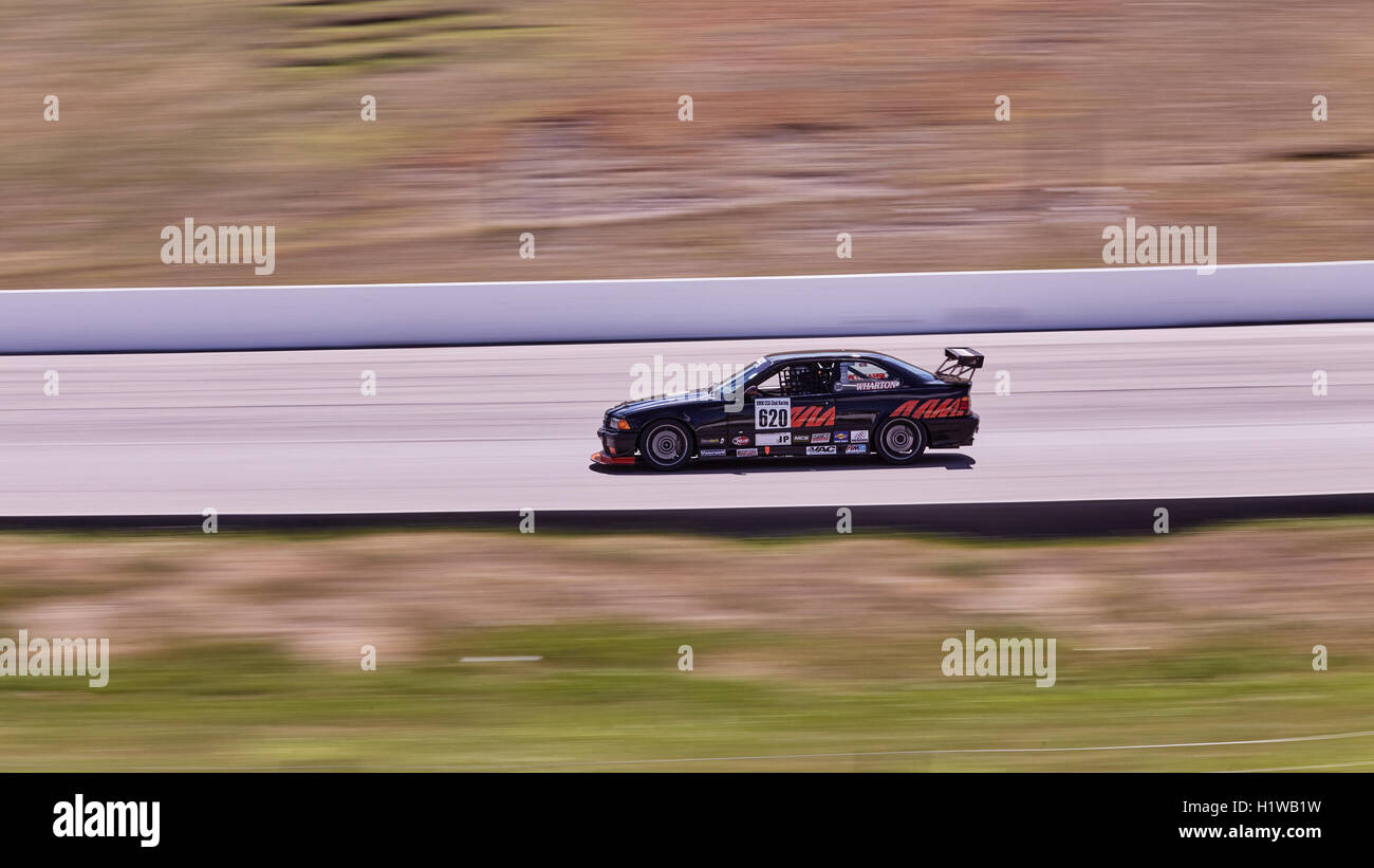 Motorsports. GTS class BMW race at Mosport track Canada. - Stock Image