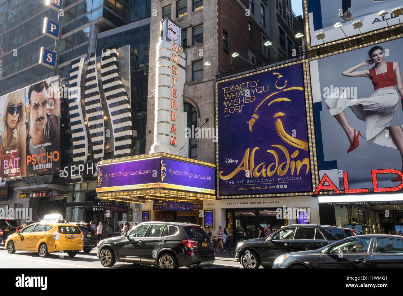 Aladdin Theater Marquee New Amsterdam Theater Times