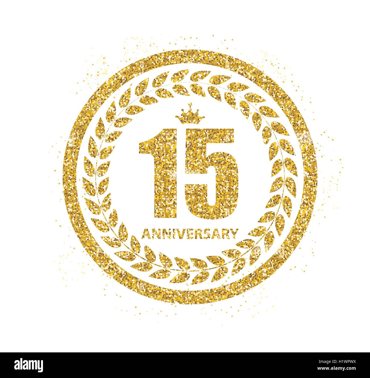 Template Logo 15 Years Anniversary Vector Illustration Stock Vector