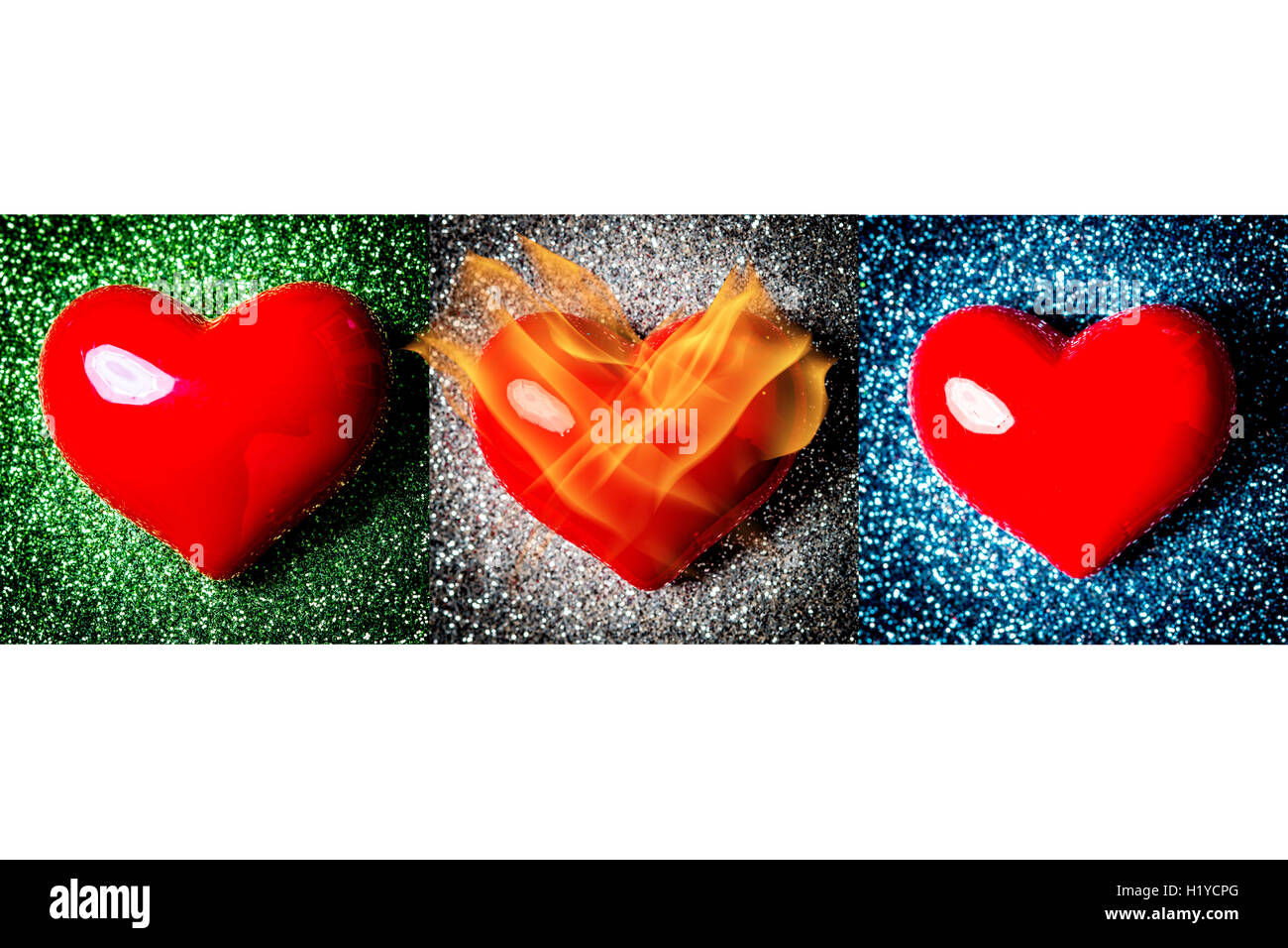 Conceptual image of increased cardiovascular risk in women after 55 year-old. - Stock Image