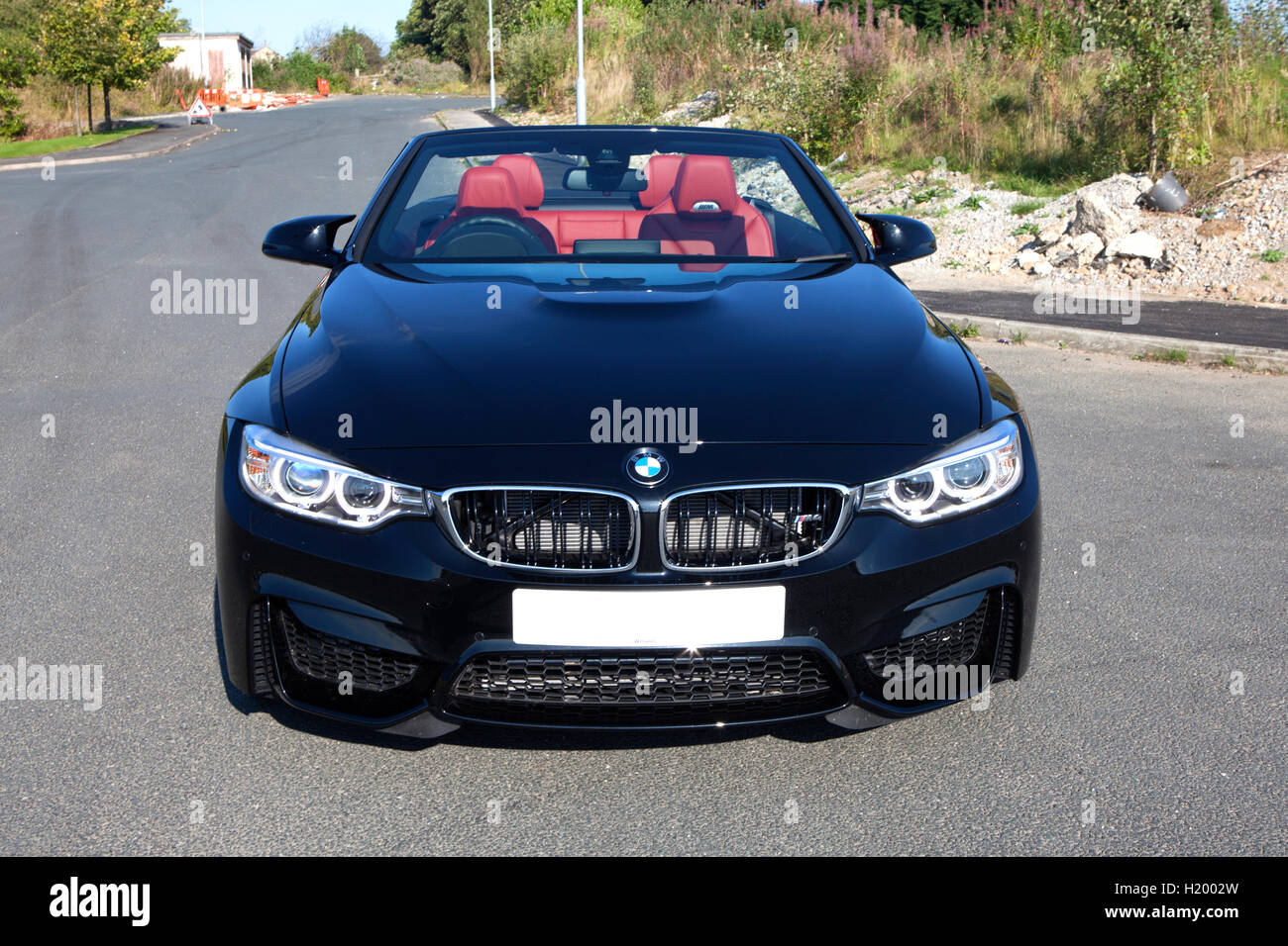 black f83 2016 bmw m4 convertible 2 door high performance sports car stock photo 121701969 alamy. Black Bedroom Furniture Sets. Home Design Ideas