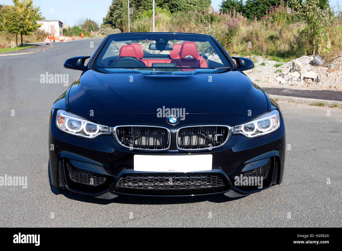 black f83 2016 bmw m4 convertible 2 door high performance sports car stock photo 121701970 alamy. Black Bedroom Furniture Sets. Home Design Ideas