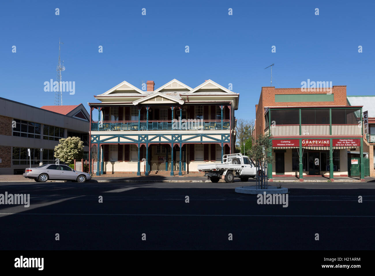 Heritage colonial style housing in Dubbo New South Wales Australia Stock Photo