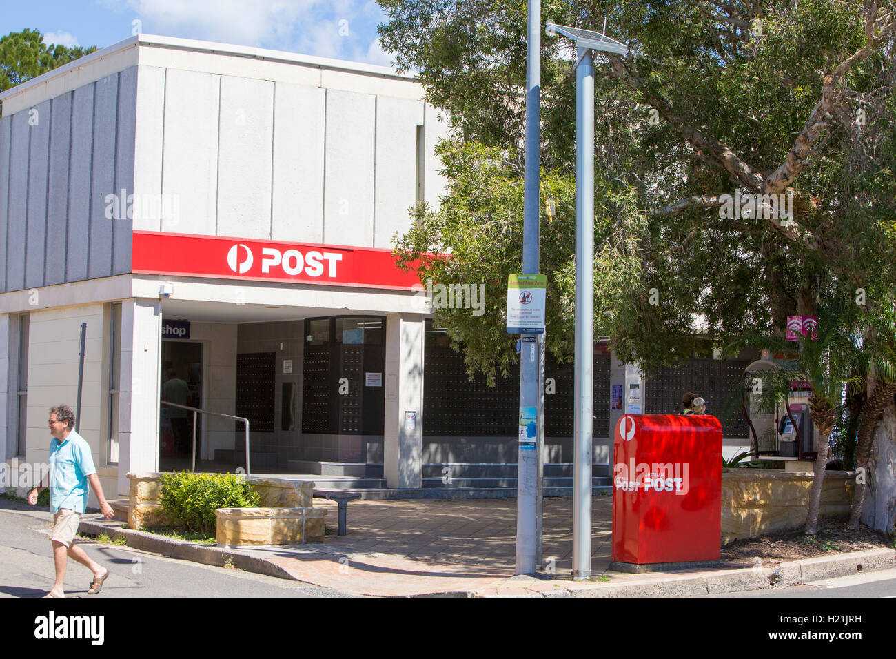 Australia Post store and mail letterbox in North Sydney