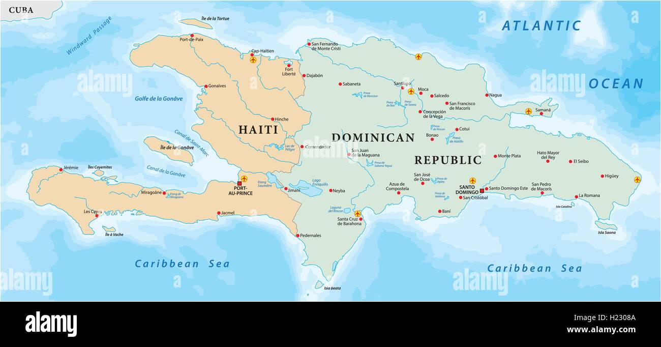 Caribbean Sea Map Stock Photos & Caribbean Sea Map Stock ...