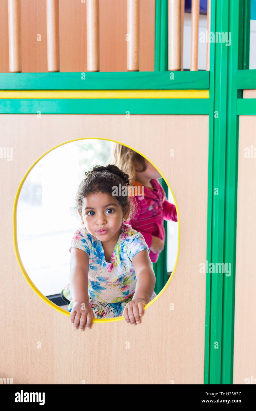 Day nursery, Angoulême, France. - Stock Image