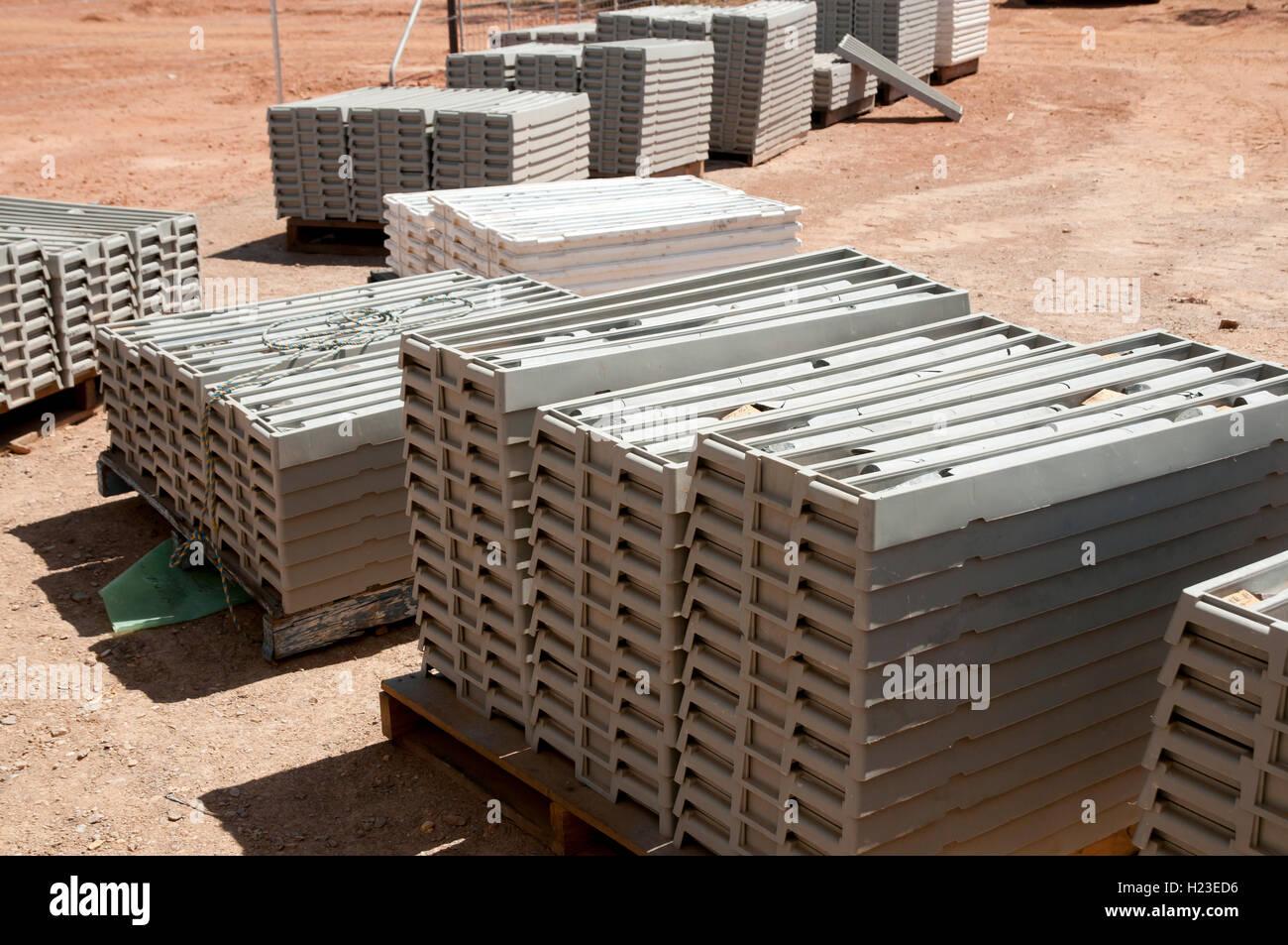 Mining Rock Core Yard - Stock Image