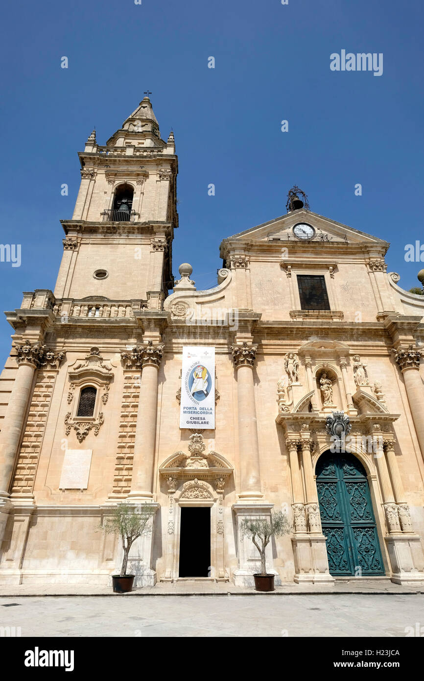 Ragusa Cathedral, Duomo di San Giorgio, Province of Ragusa, Sicily, Italy - Stock Image