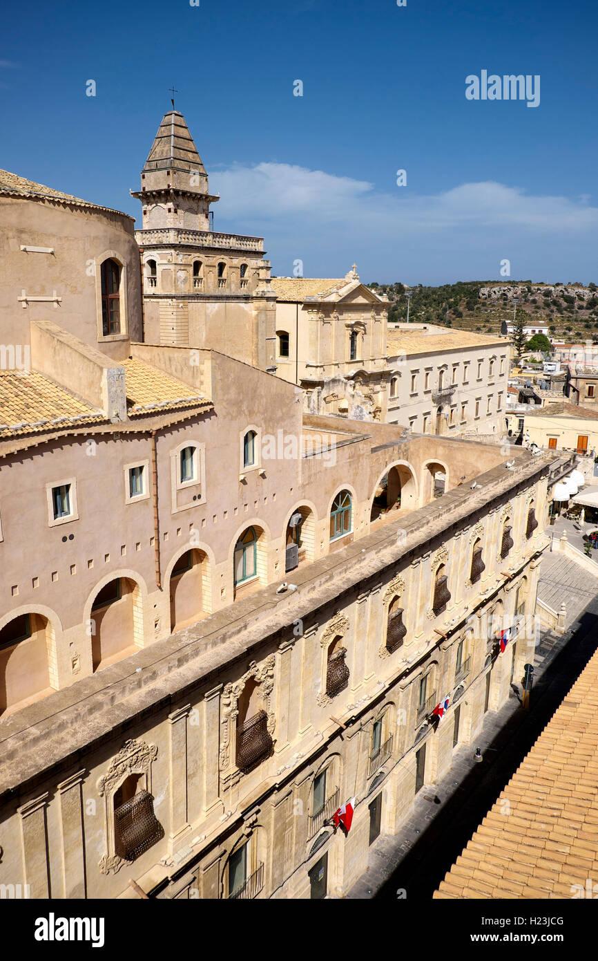 Santissimo San Salvatore Monastery, Noto, Sicily, Italy - Stock Image