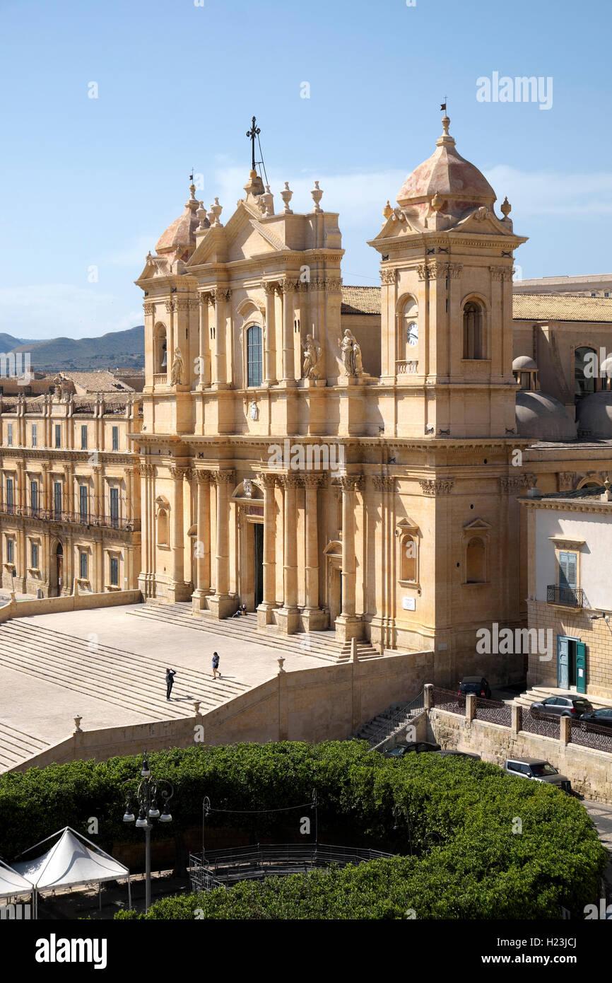Noto Cathedral, Noto, Sicily, Italy - Stock Image