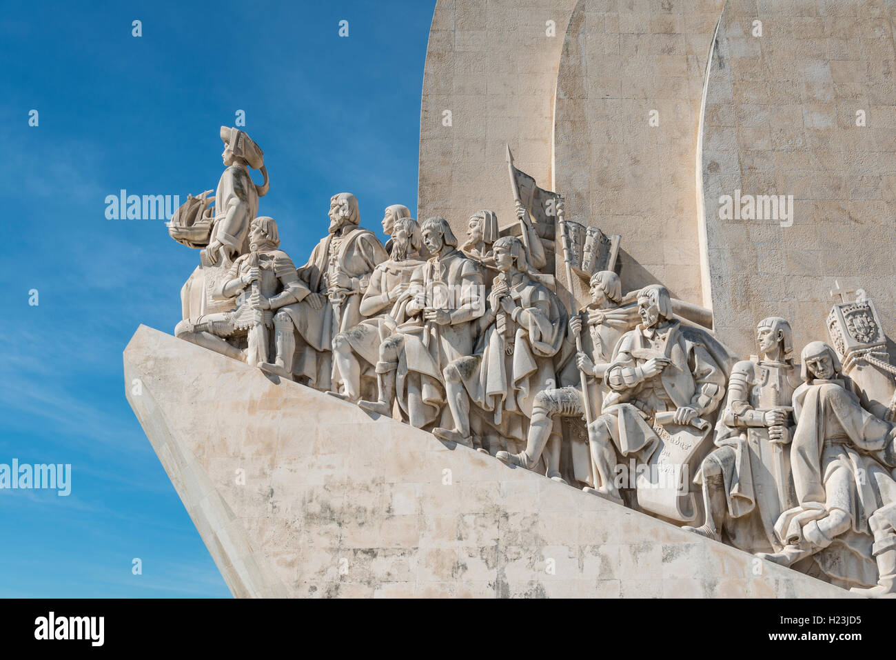 Padrão dos Descobrimentos, Monument to the Discoveries, close-up, Belém, Lisbon, Portugal - Stock Image