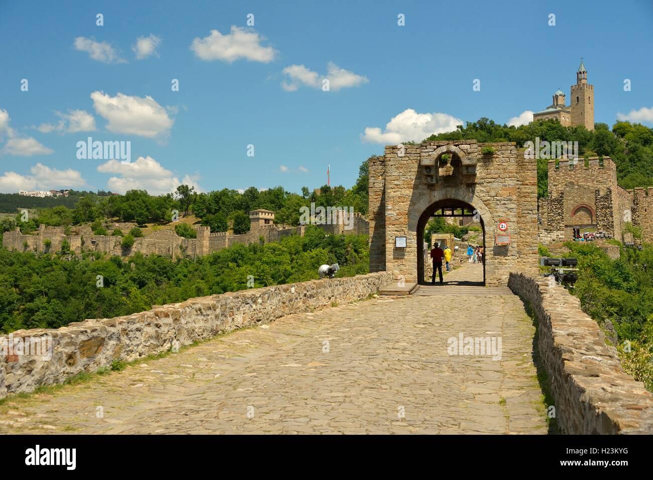 Tsarevets Fortress, Veliko Tarnovo, Bulgaria Stock Photo