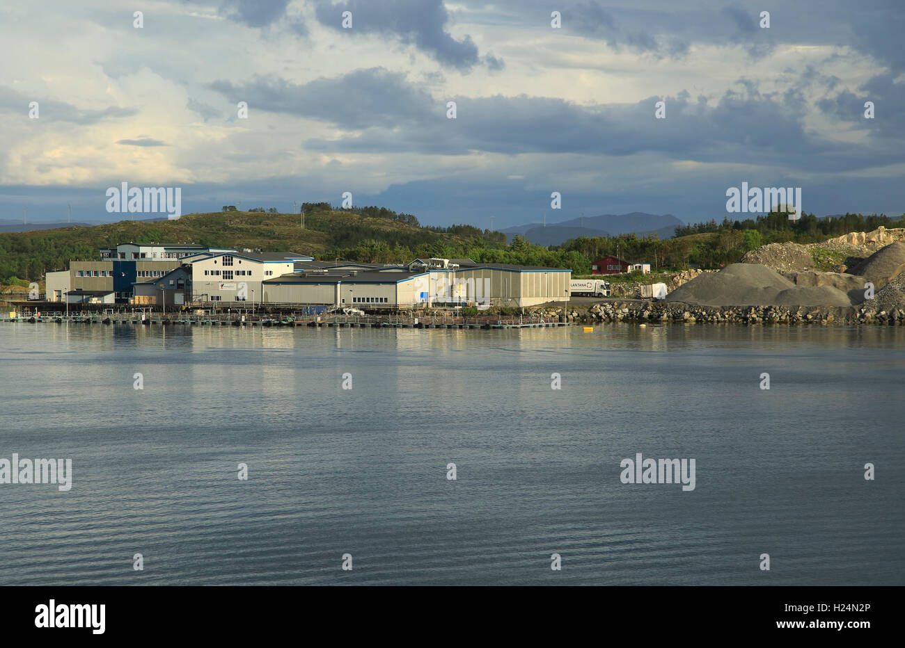 Quarrying industry Rorvik in the municipality of Vikna in Nord-Trondelag county, Norway - Stock Image