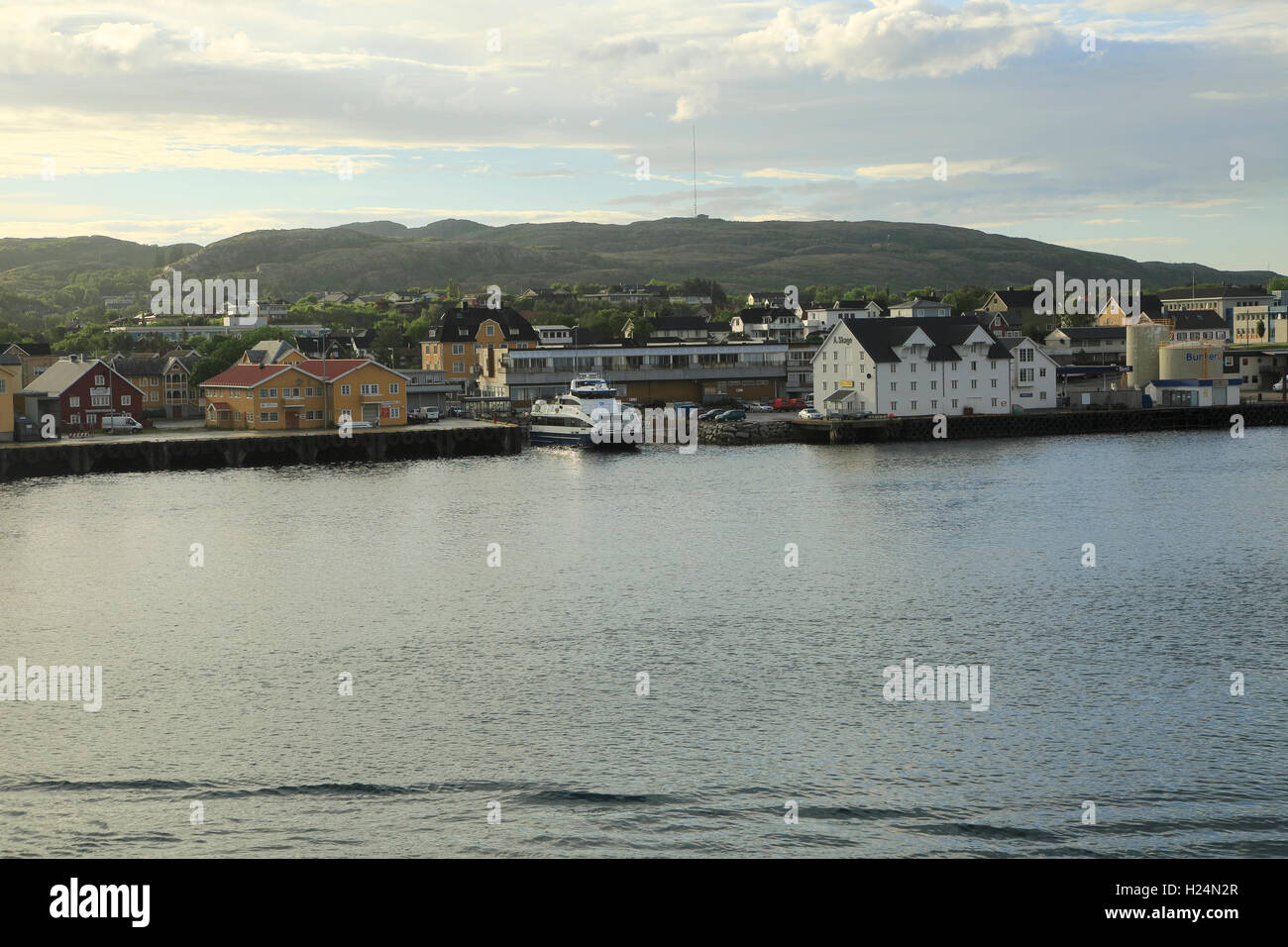 Rorvik, a port village in the municipality of Vikna in Nord-Trøndelag county, Norway - Stock Image