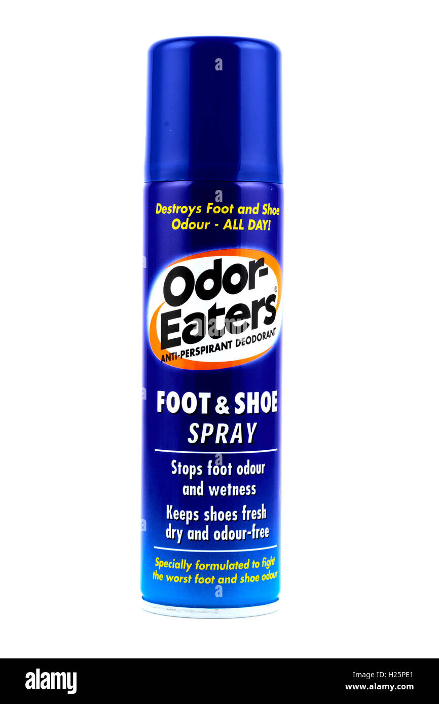 Spray Can Of Odor-Eaters Foot And Shoe Spray - Stock Image