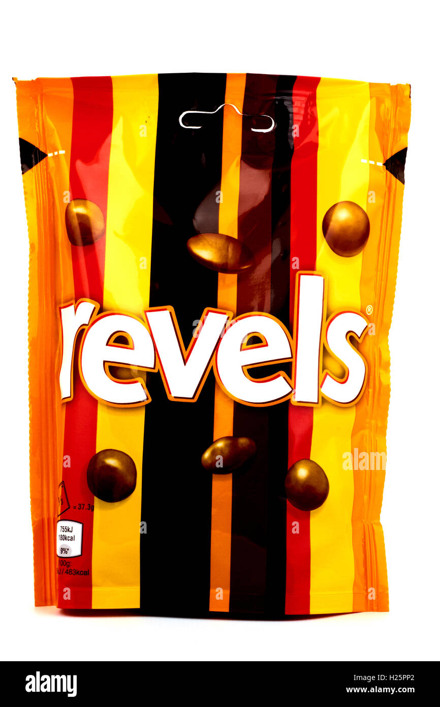 Packet Of Revels Chocolate Sweets - Stock Image