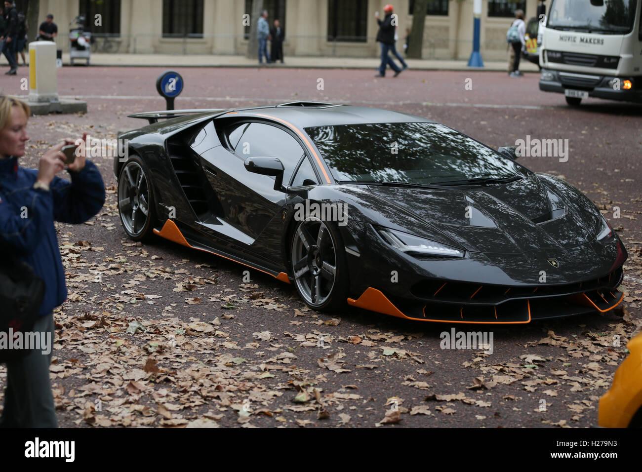 A Lamborghini Centenario Sports Car During Filming Of The Film Stock