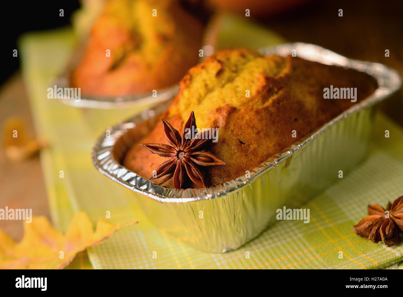A home baked sweet rye pumpkin bread - Stock Image