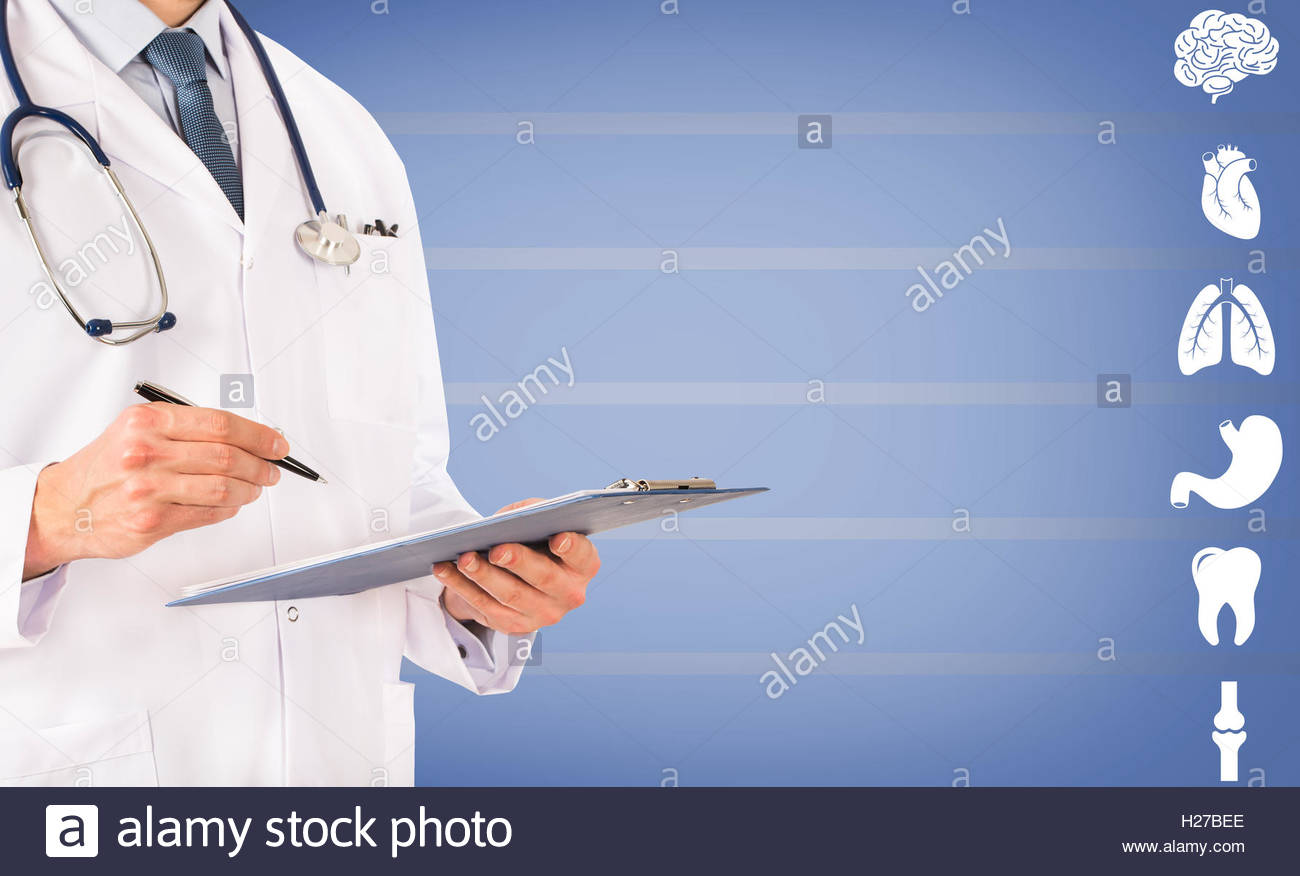Health Care Professional and Organs - Stock Image