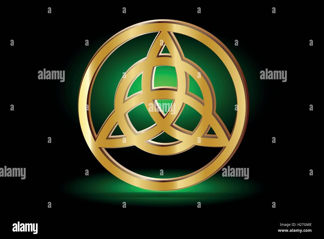 Triquetra Symbol Vector Illustration Symbol Of Strength Honor