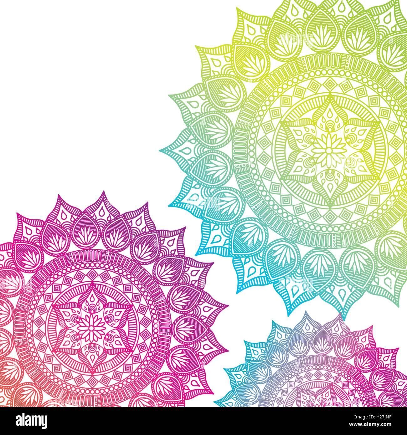 mandala india culture icon - Stock Image