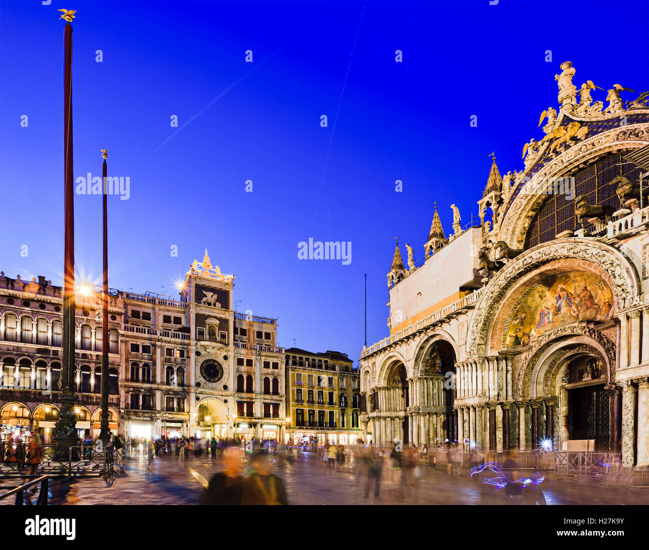 San marco square of Venice between Cathedral and Yex Change S.R.L. A ...