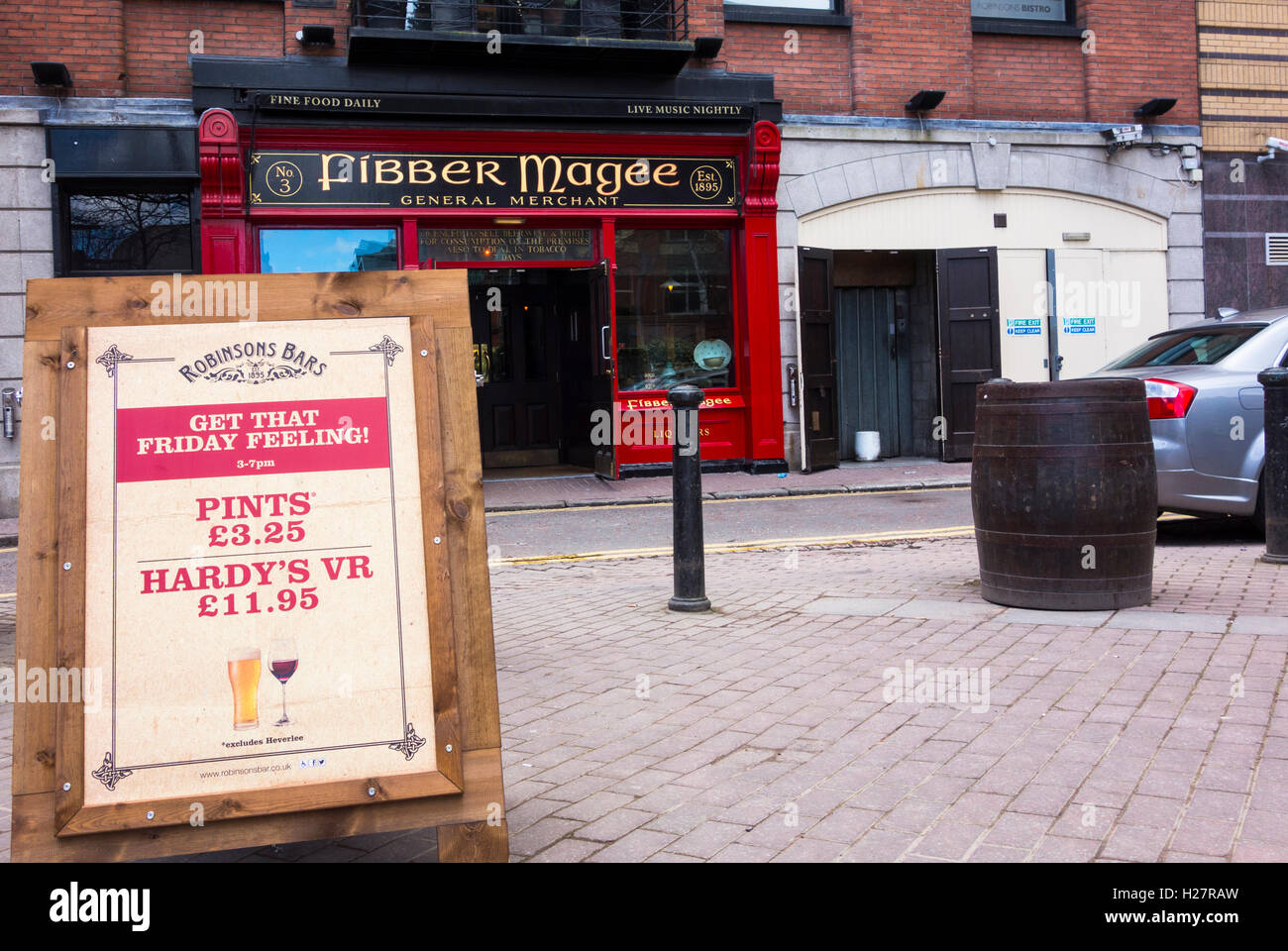 Fibber Magee's bar and restaurant, Blackstaff Square, Belfast, Northern Ireland - Stock Image