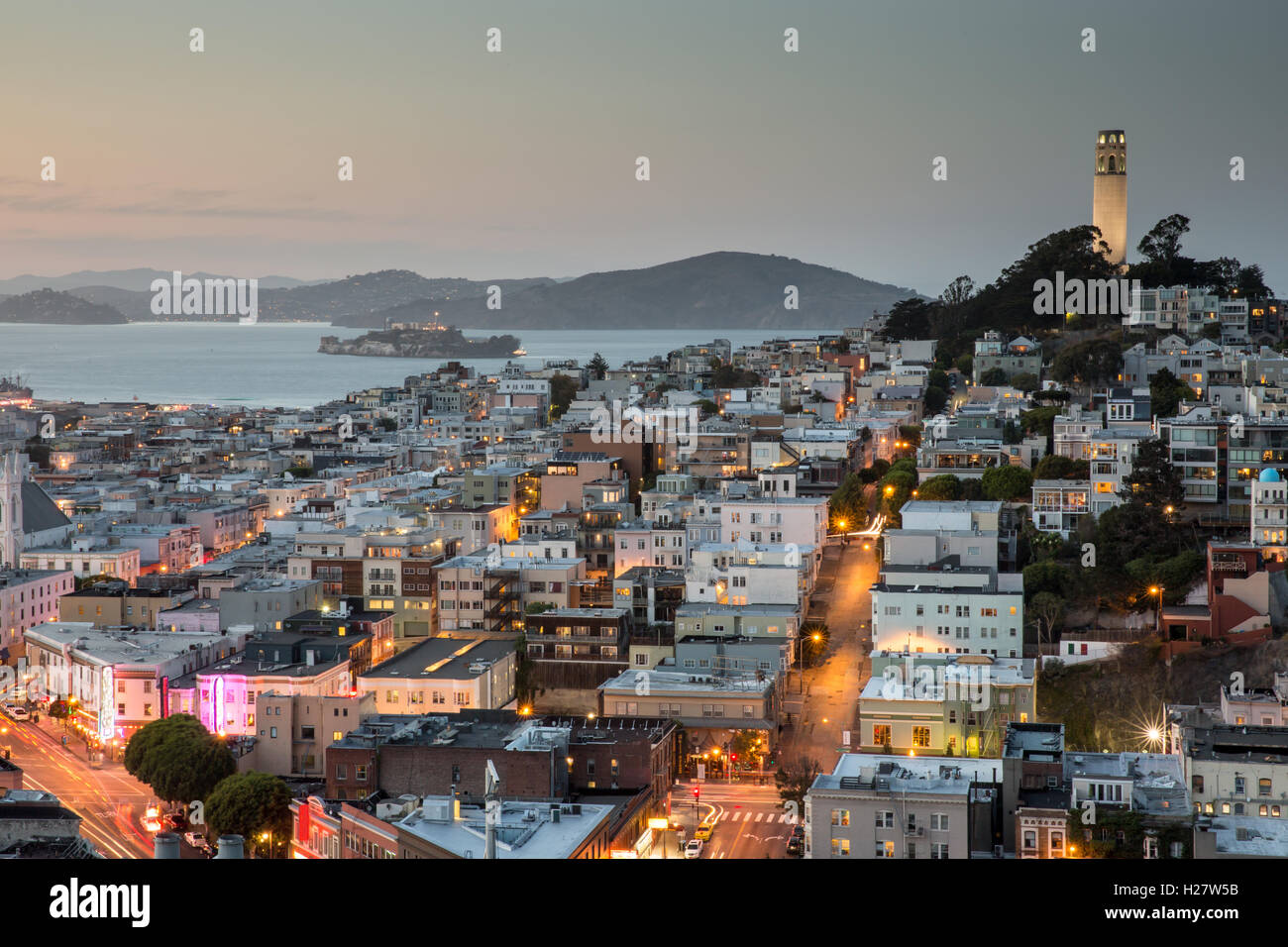 San Francisco in Blue and Gold - Stock Image