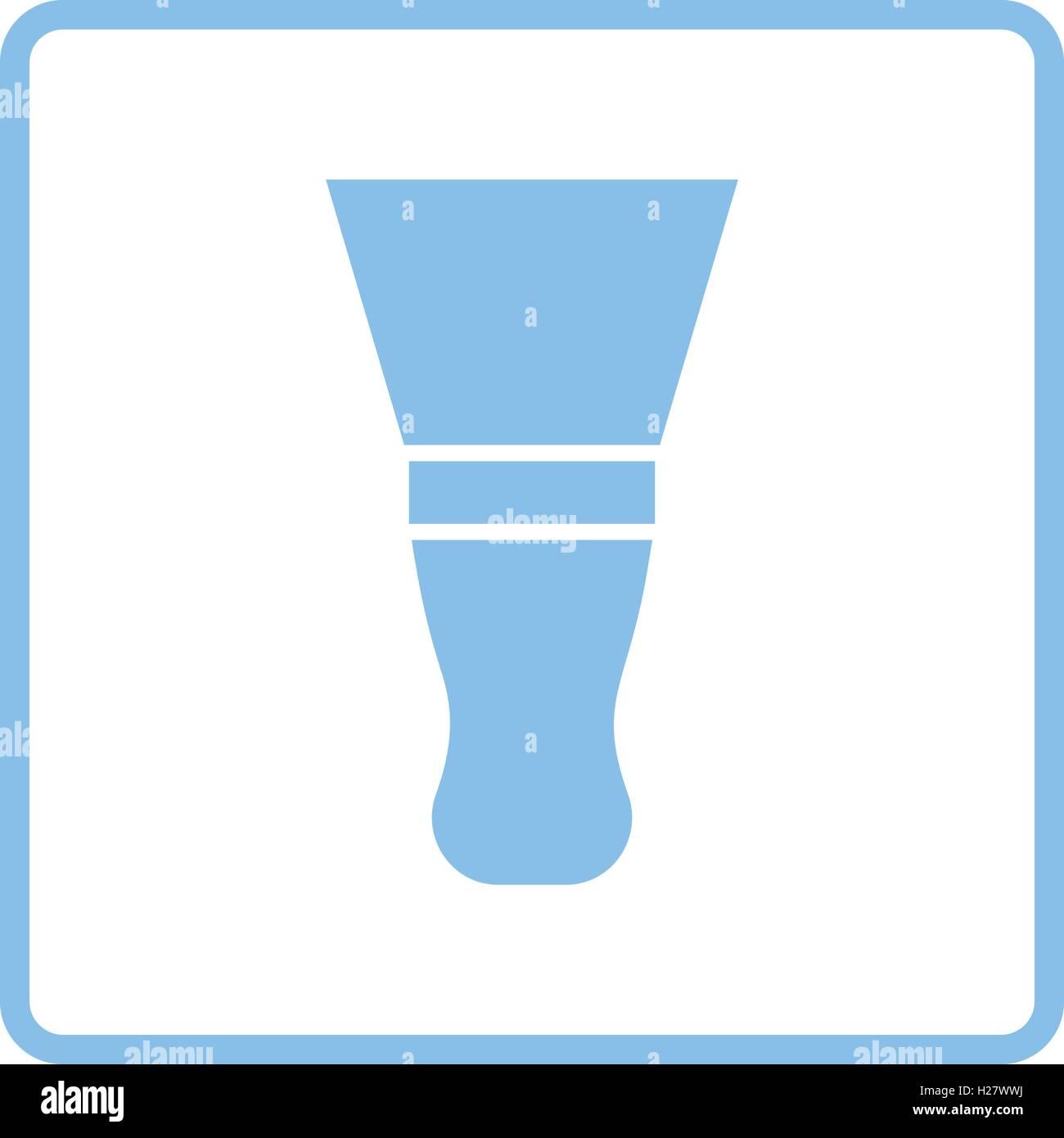 Putty knife icon. Blue frame design. Vector illustration Stock ...