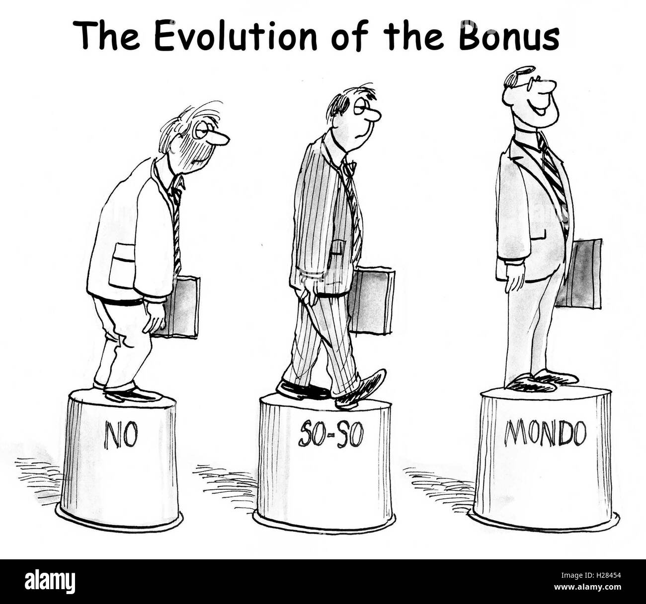 Evolution of the Bonus - Stock Image
