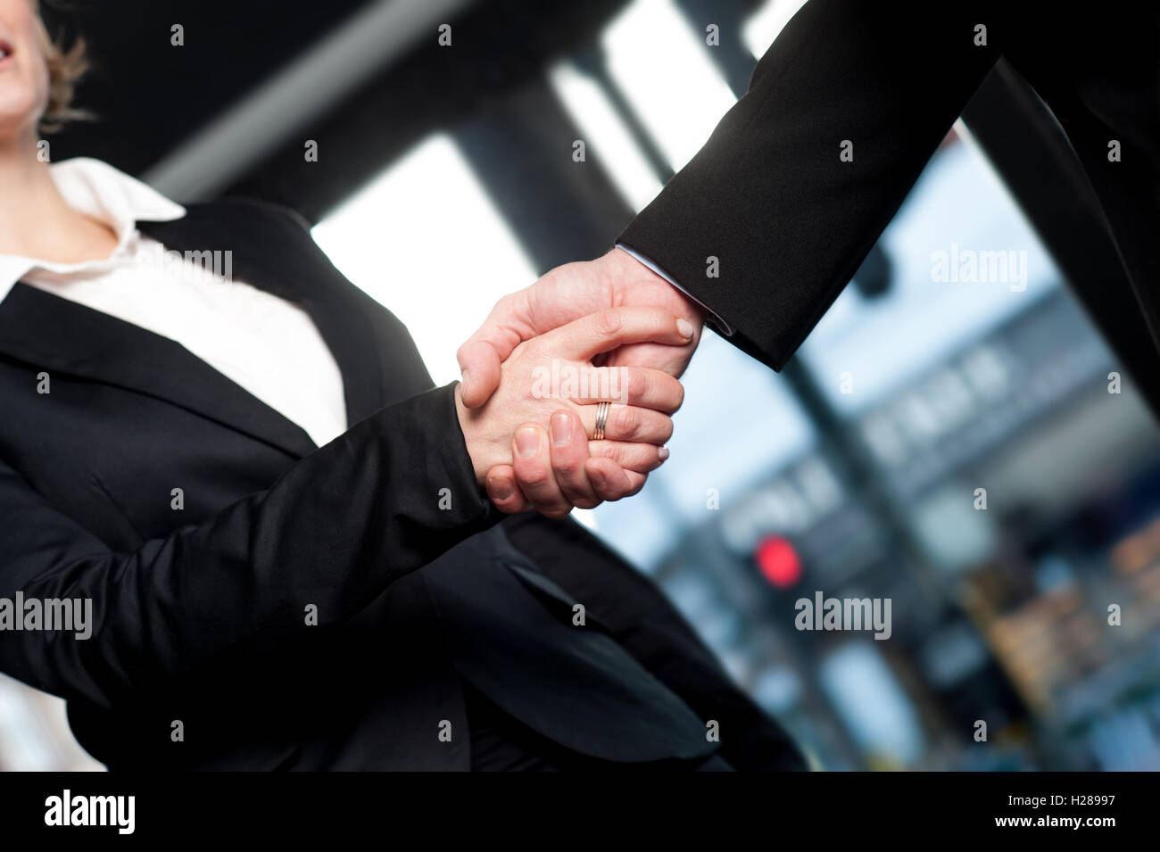 Business handshake, deal finalized - Stock Image