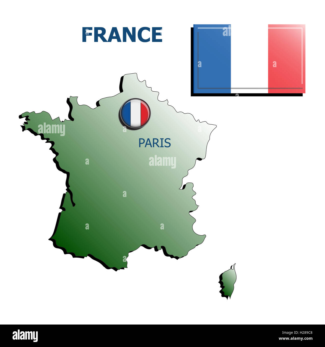 France Map Flag.Collage Map Flag Badge France Stock Photo 121884904 Alamy