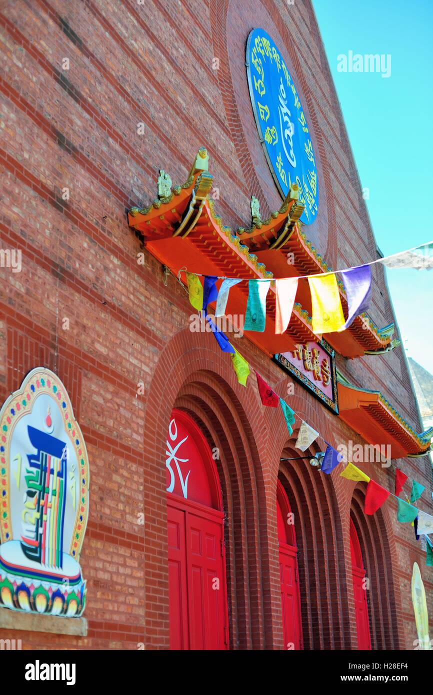 The Ling Shen Ching Tze Temple in Chicago's Bridgeport neighborhood. The building dates from 1892. Chicago, - Stock Image