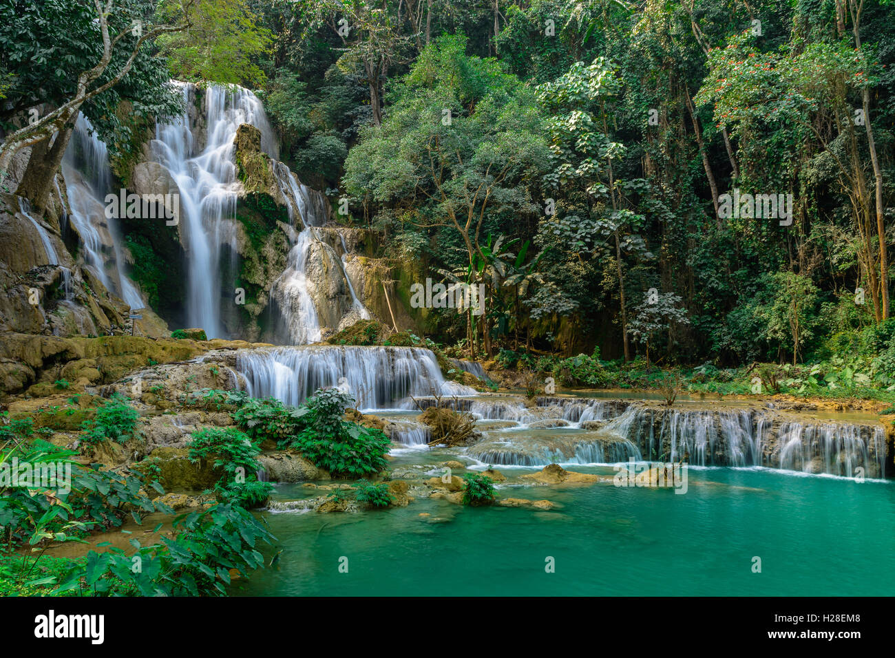 Kuang si water fall in Luang prabang,Laos. - Stock Image
