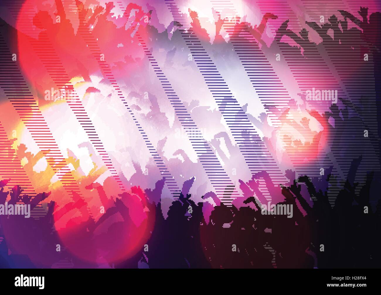 abstract digital glitch party poster background stock vector art