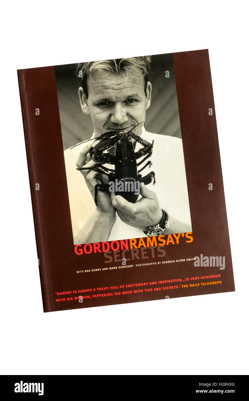 A copy of Gordon Ramsay's Secrets cookery book. - Stock Image