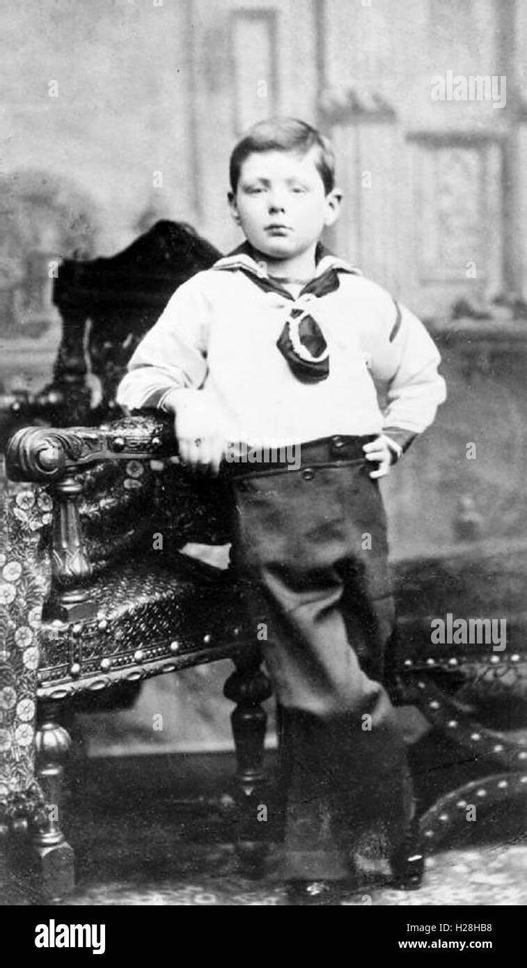 'Winston Churchill' as a child - Stock Image