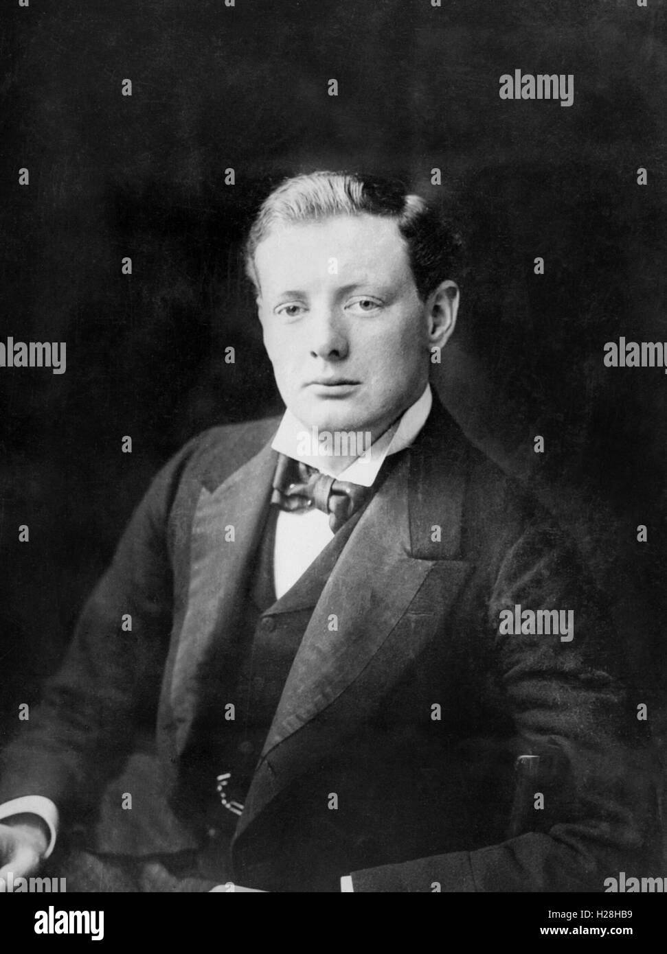 Young 'Winston Churchill' in 1900 - Stock Image