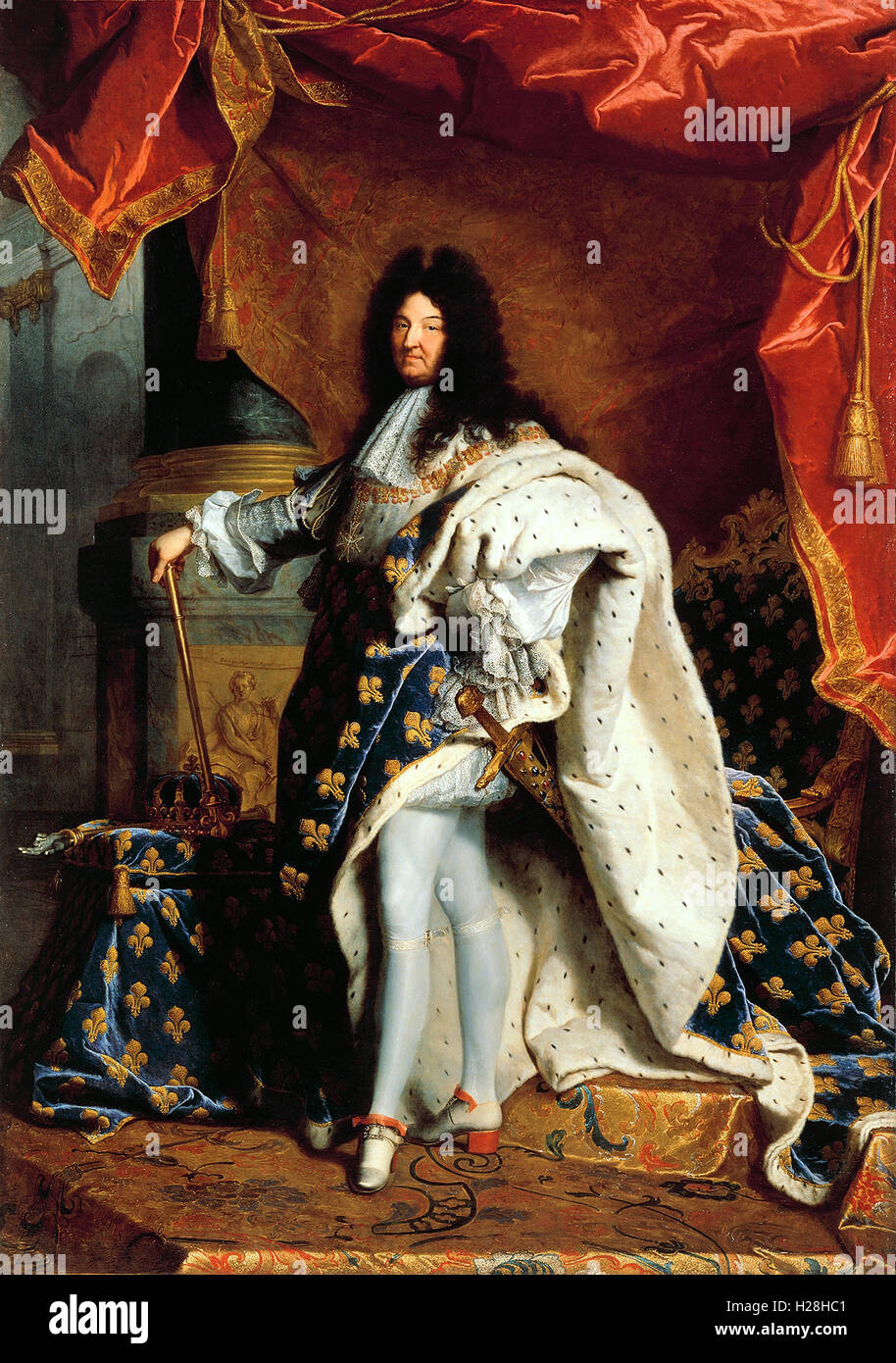 Louis XIV of France, King of France - Stock Image