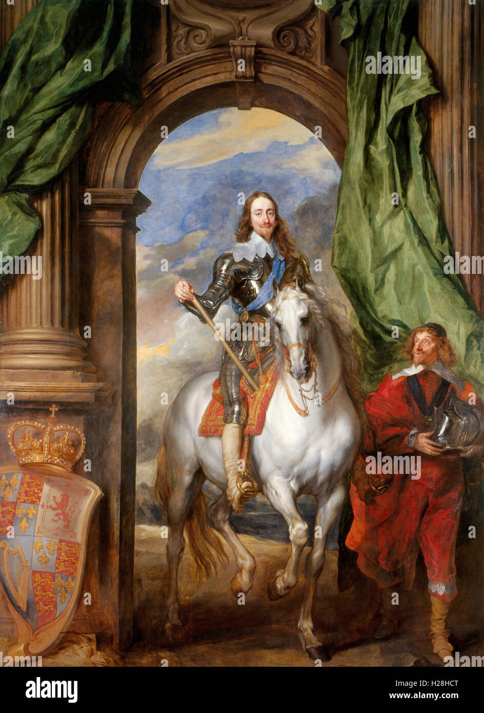 King Charles I with M. de St Antoine, Charles I, King Charles I of England by Anthony van Dyck - Stock Image