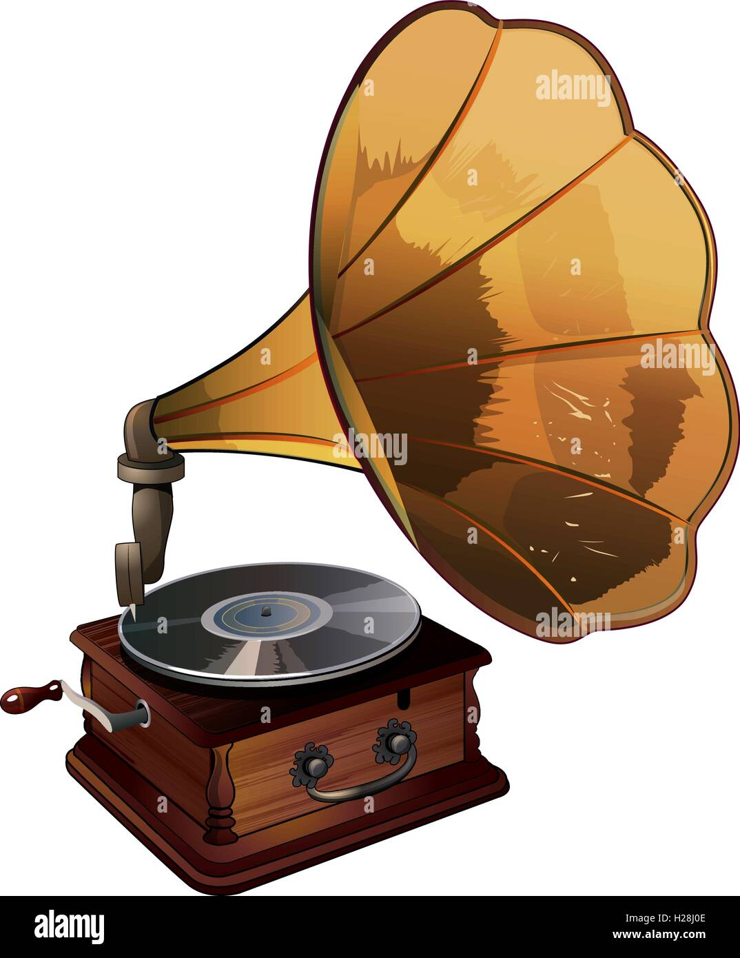 gramophone vector illustration stock vector image art alamy https www alamy com stock photo gramophone vector illustration 121891630 html