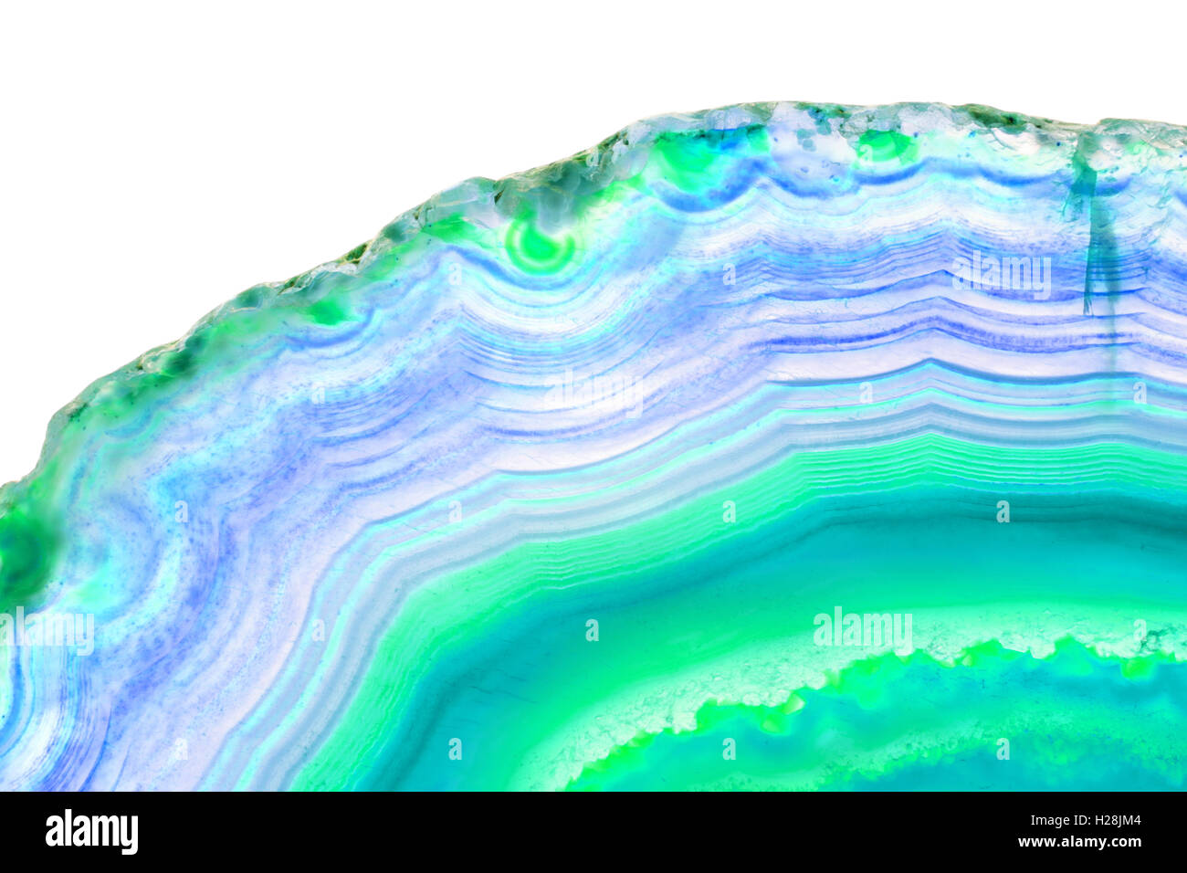 Abstract Background Blue Agate Slice Mineral Stock Photo