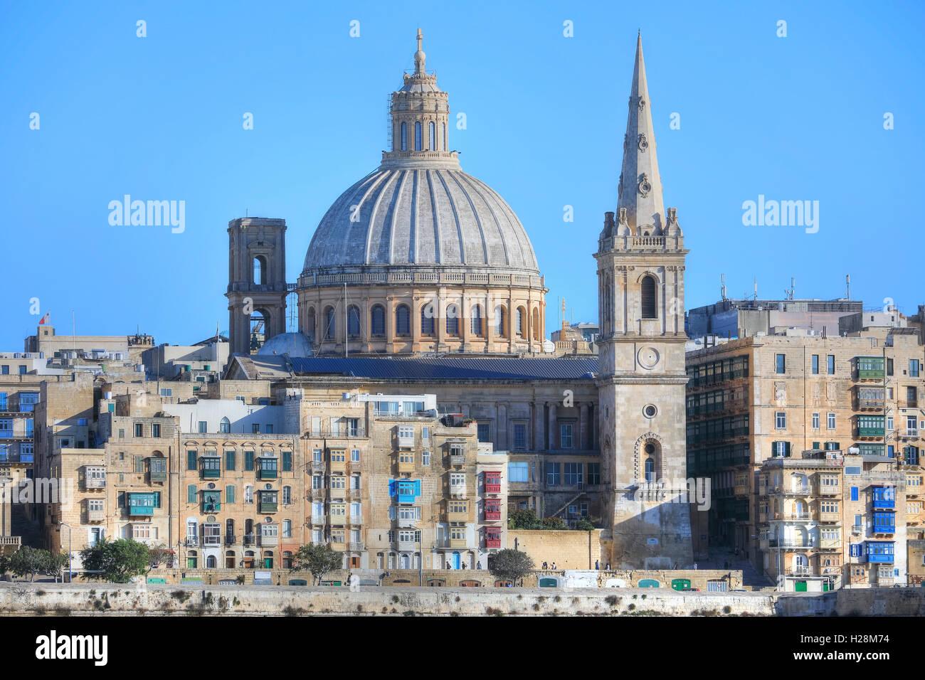 Valletta, cityscape, Malta - Stock Image