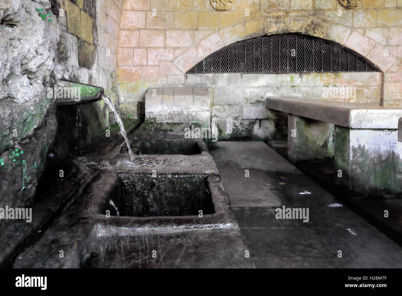 wash house, Fontana, Victoria, Gozo, Malta - Stock Image